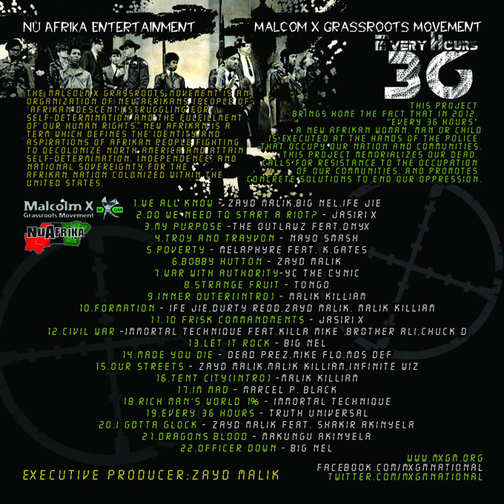 MADE YOU DIE by Dead Prez,Mike Flo,Mos Def from Every 36 Hours by Nu Afrika Ent/MXGM